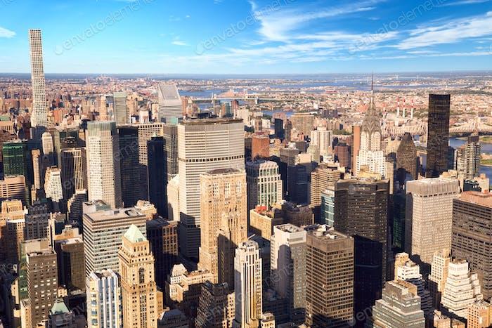 Urban skyscrapers in New York