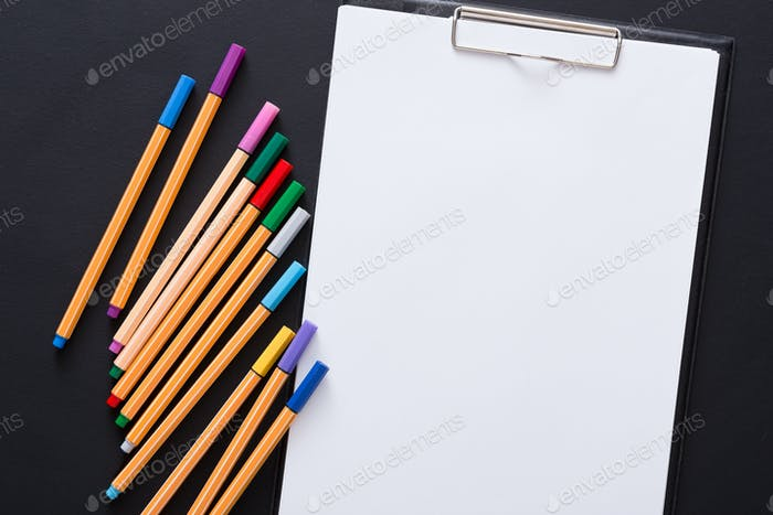 Stationery for drawing, pencils or markers and blank paper