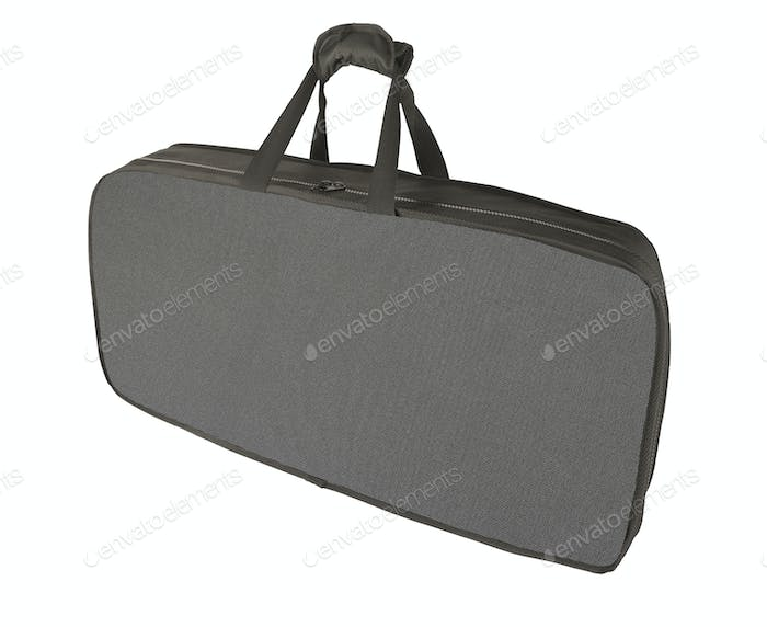 big black suitcase isolated on white background