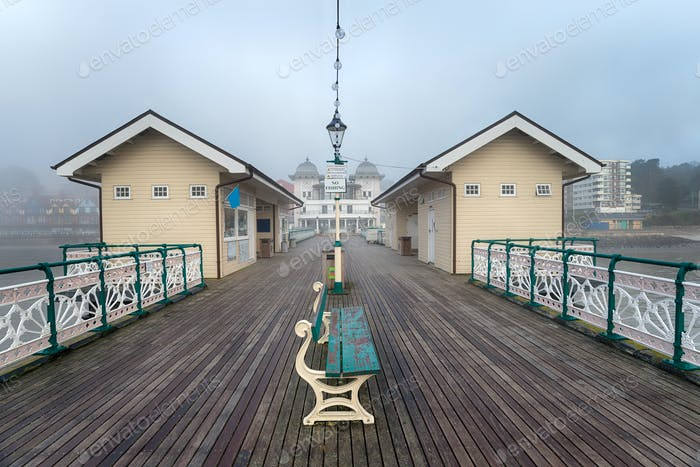 Foggy Weather at Penarth Pier