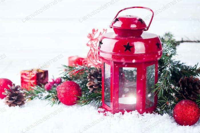 Christmas red lantern