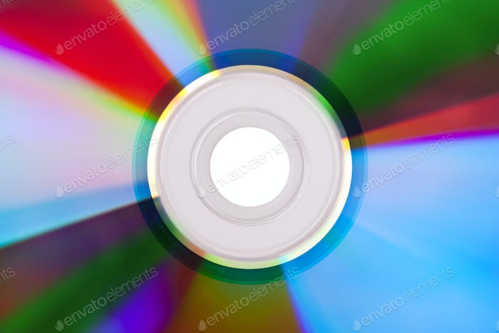 Close-up of colorful CD