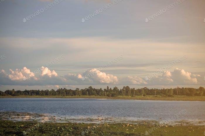 See in der Natur der Landschaft