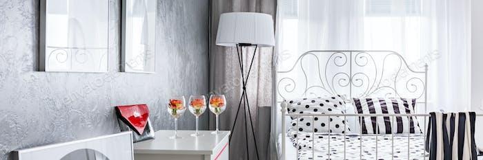 Elegant woman's bedroom