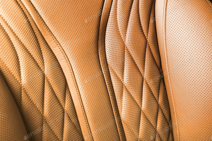 Orange colored leather texture background