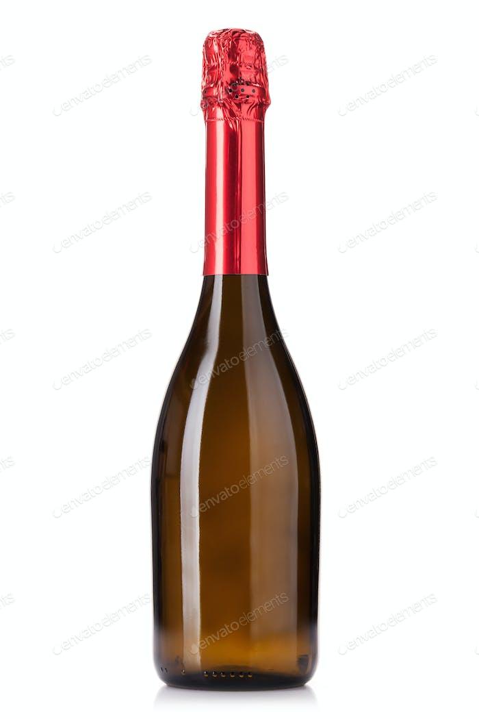 Champagne wine bottle