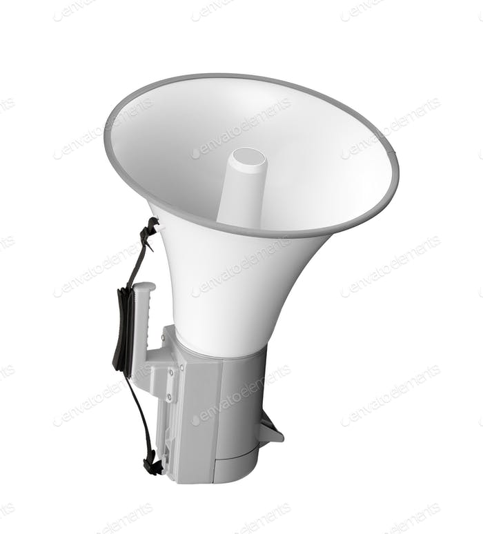 megaphone isolated on white