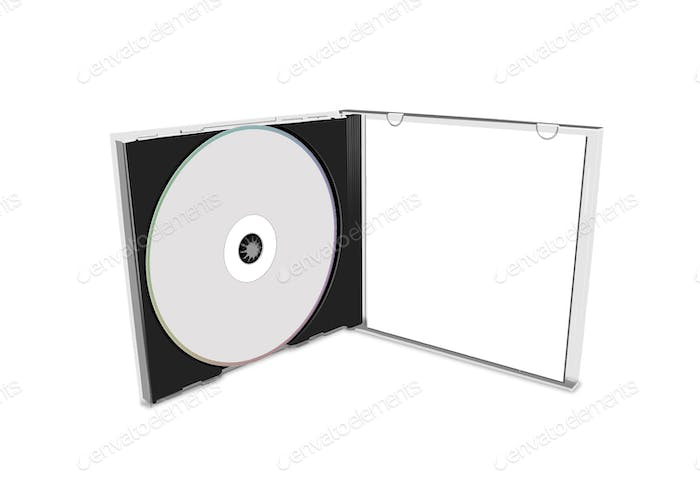 blank cd cover isolated
