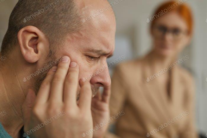 Depressed mature man