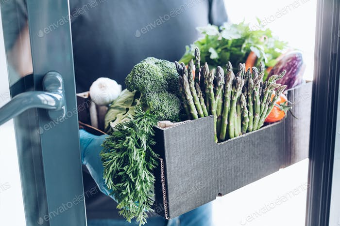 Vegetables delivery during coronavirus outbreak