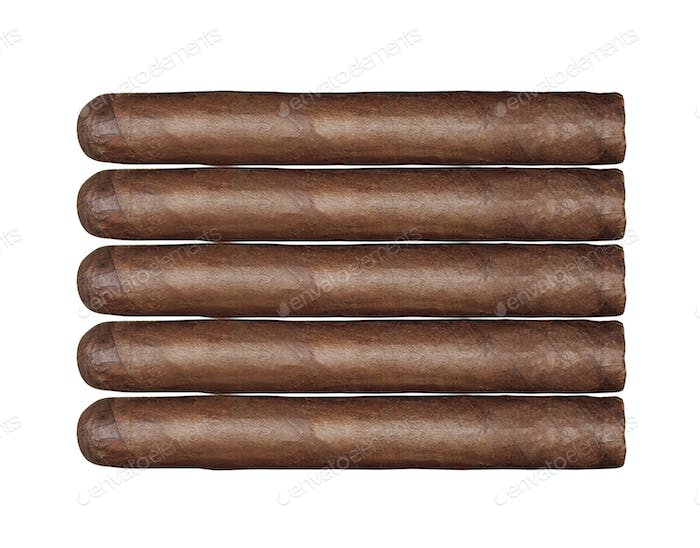 long cigars set isolated