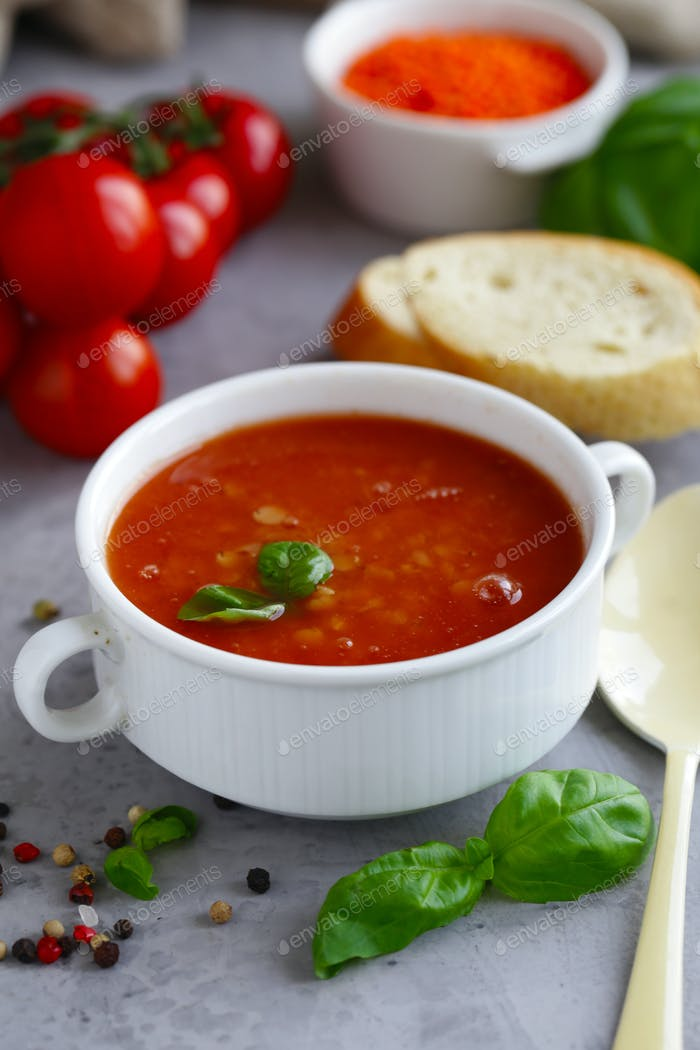 Lentil Soup with Tomatoes