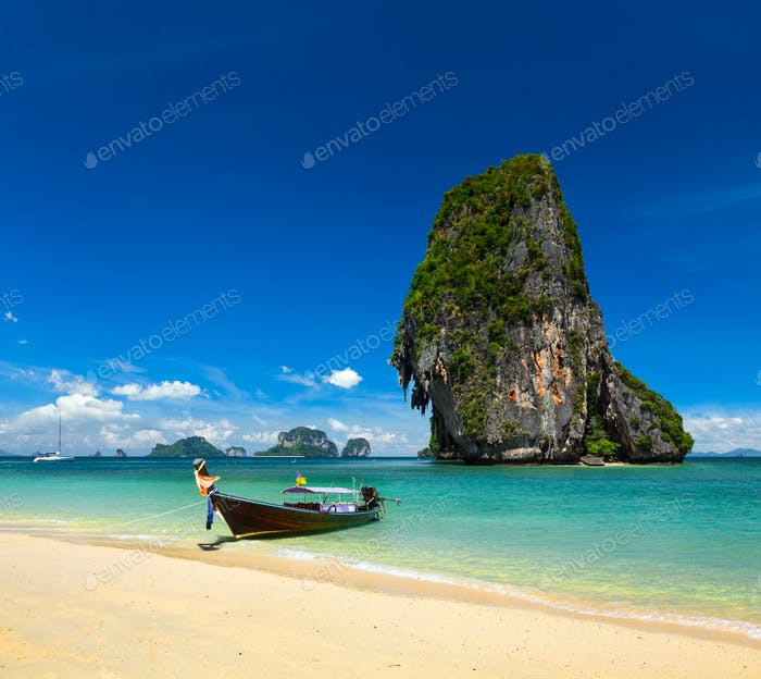 Thailand tropical vacation concept background