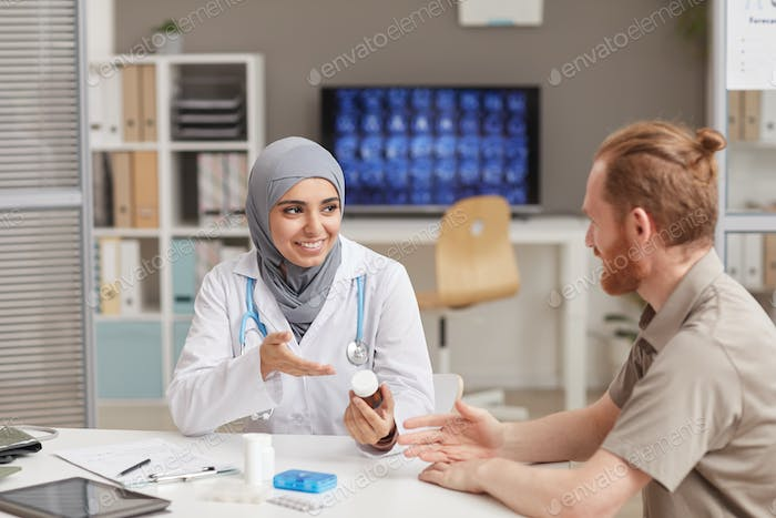 Doctor and patient at hospital