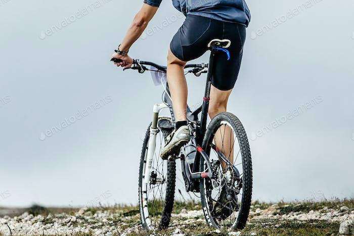 closeup of rear wheel sports bike