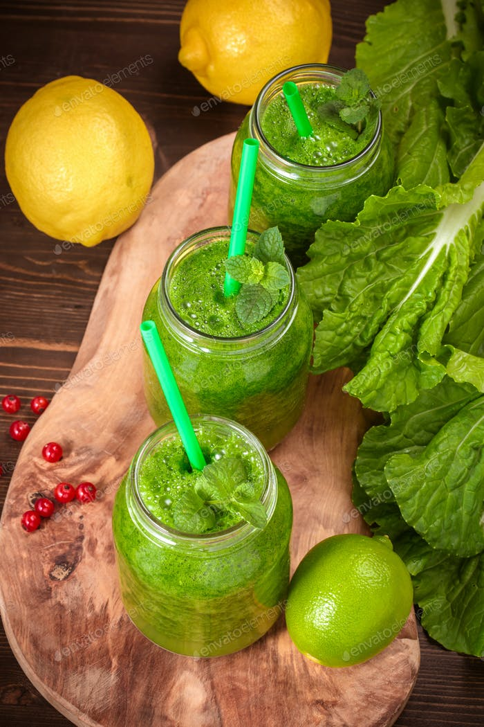 Green smoothie above