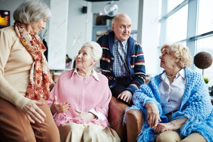 Gathering of seniors