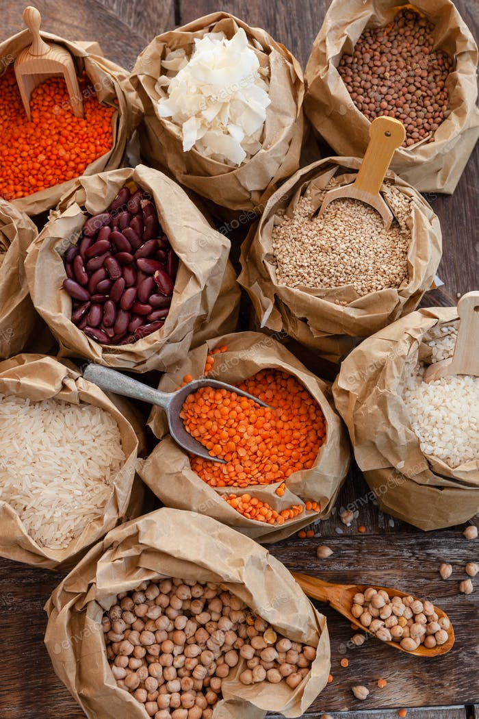 Variety of dried legumes