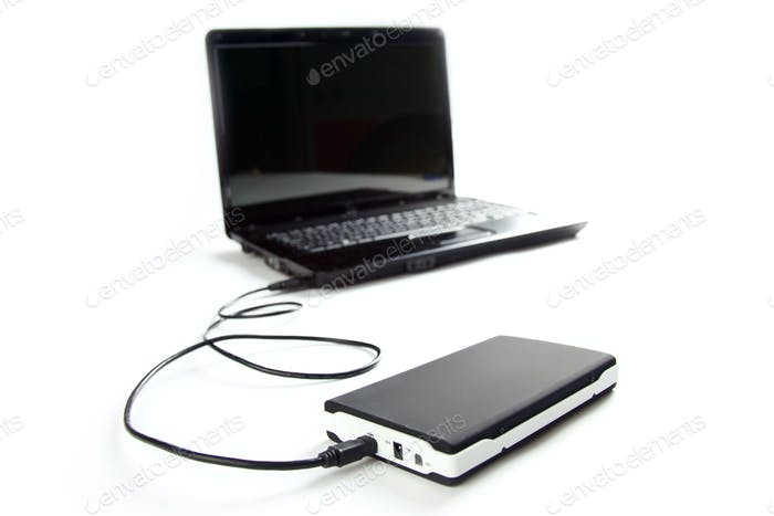 external hard disc connect to laptop