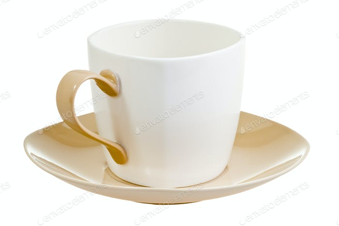 porcelain cup with saucer