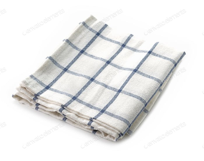 new folded kitchen towel