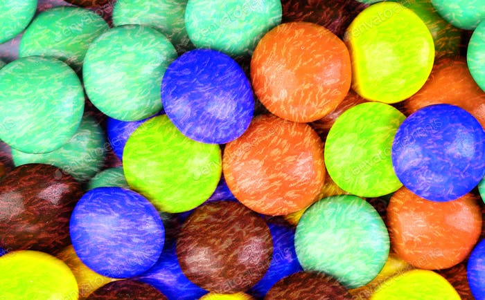 multicolored sugar coated candies