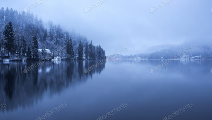 Bled on a beautiful winter evening