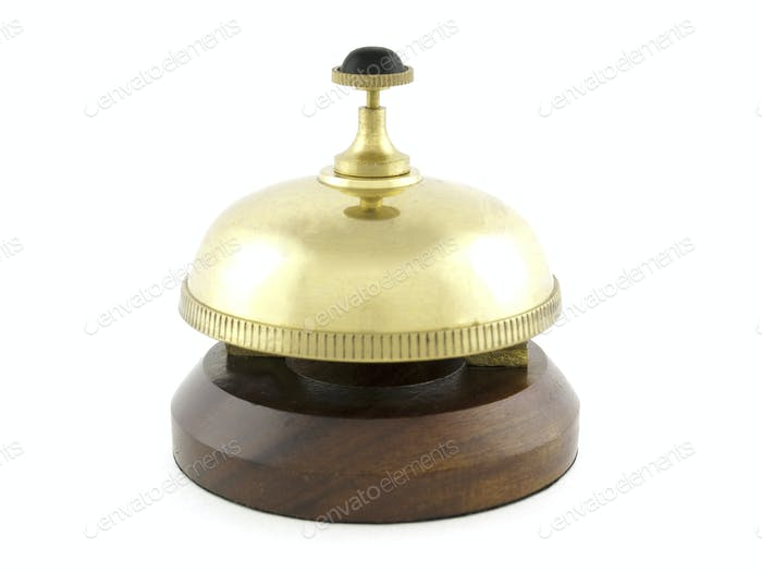 Hotel desk brass bell