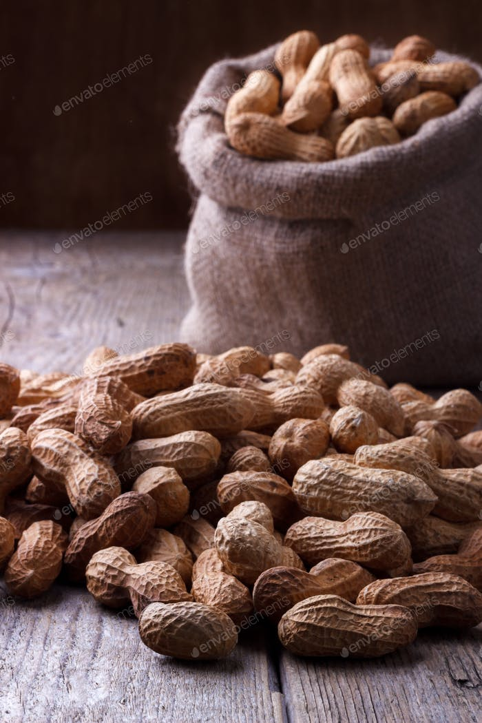 Peanuts in a sack