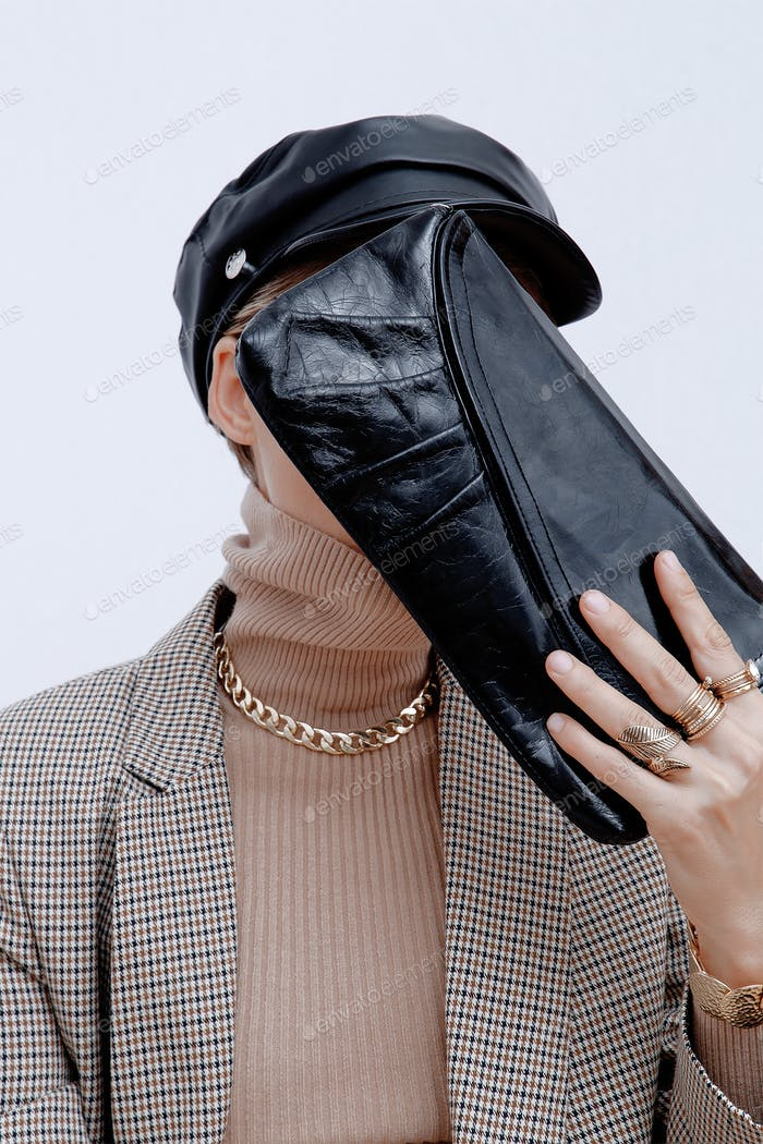 Париж Девушка в моде элегантный