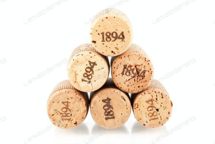 Six champagne corks