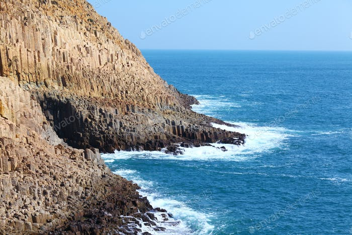 Cliff and seascape