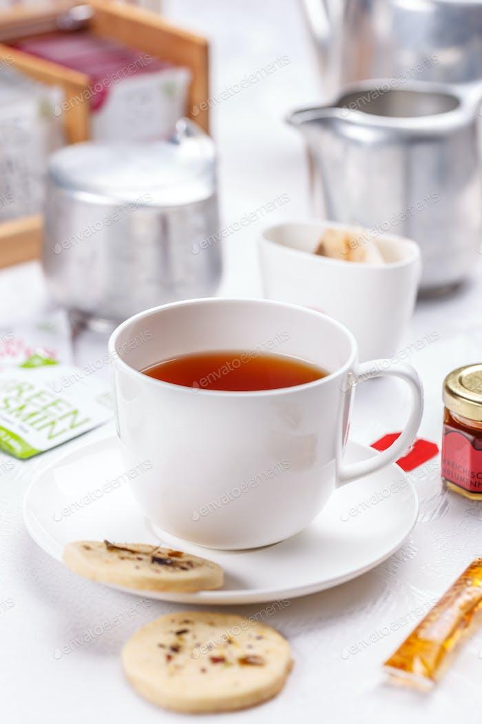 Tee-Zeitkonzept
