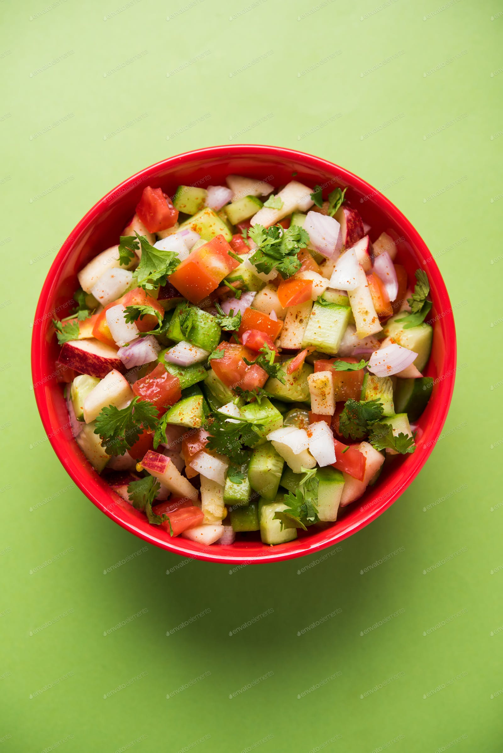 Kachumber Indian Green Salad Photo By Stockimagefactory On Envato Elements