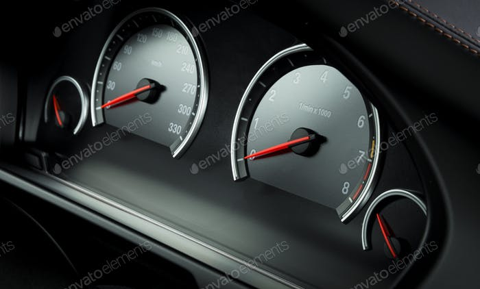 Auto Armaturenbrett, moderne Luxus Interieur, Lenkrad
