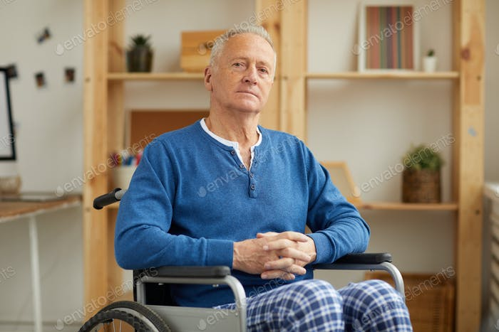 Portrait of Senior Man in Wheelchair