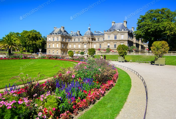 Luxembourg Palace in afternoon
