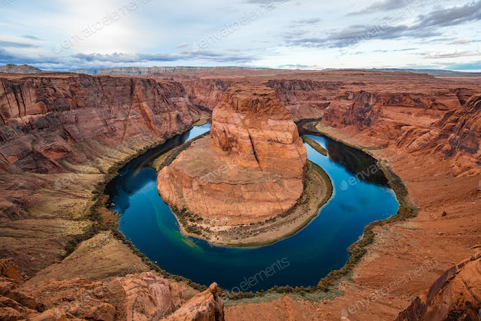 Arizona Horseshoe Bend Mäander des Colorado River im Glen Canyon