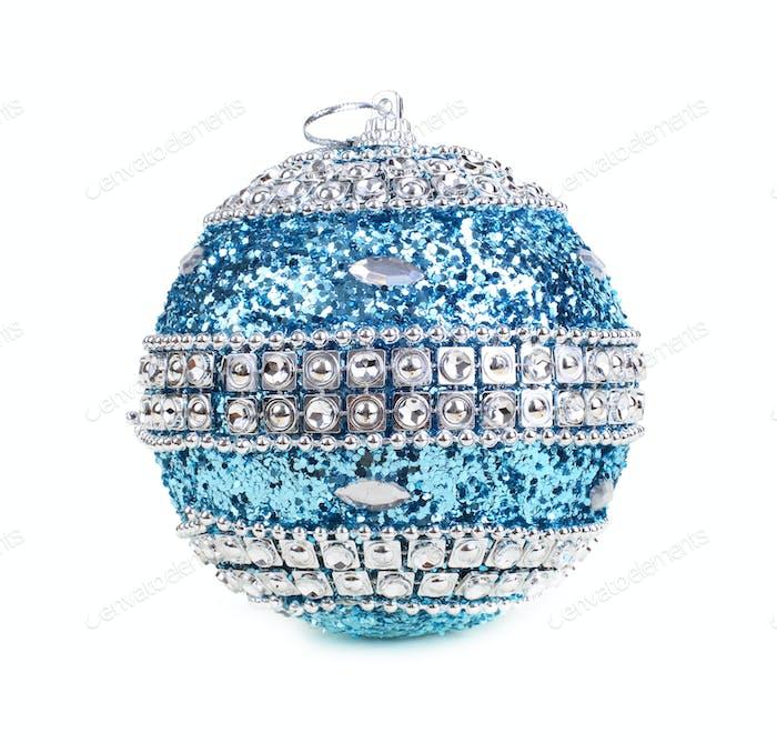 Christmas ball on white