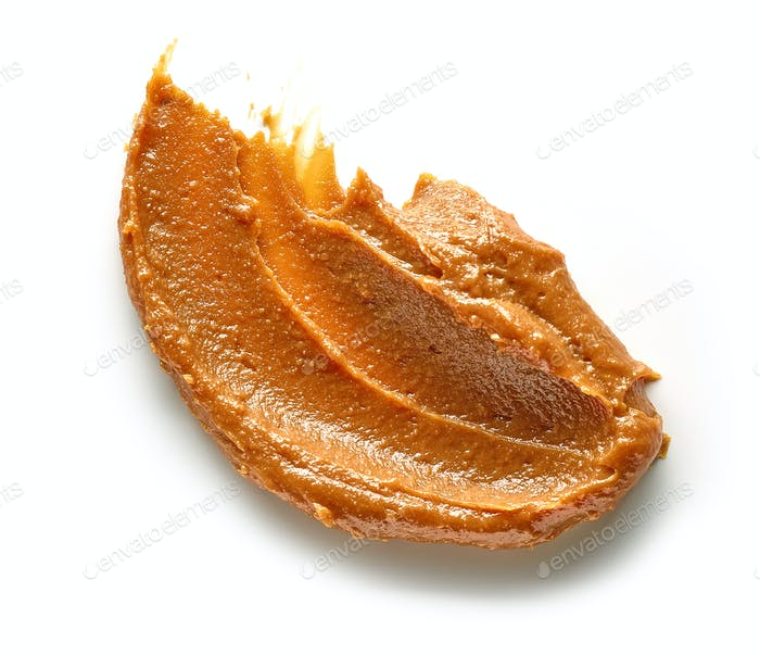 soft caramel on white background