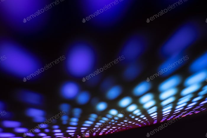 Rainbow abstract background with neon led light