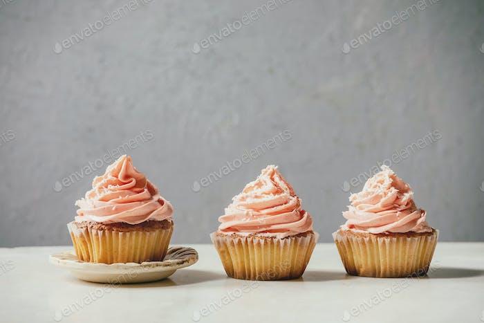 Hausgemachte Cupcake mit Buttercreme
