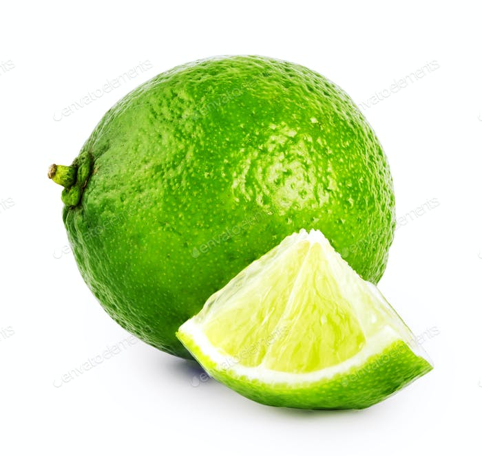 Whole and slice sour lime