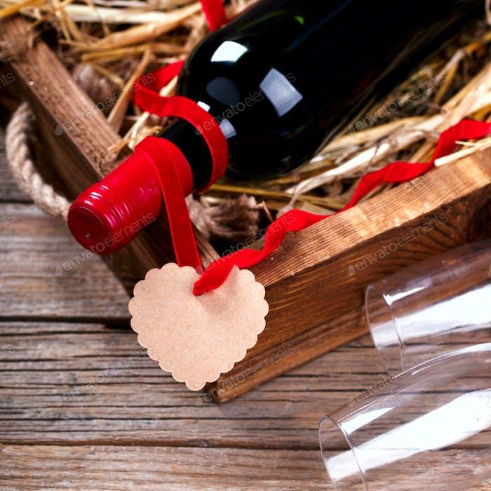 Concept Urlaub Valentinstag.Geschenk.