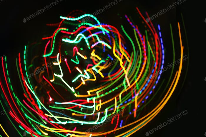 Abstract colorful motion lights background