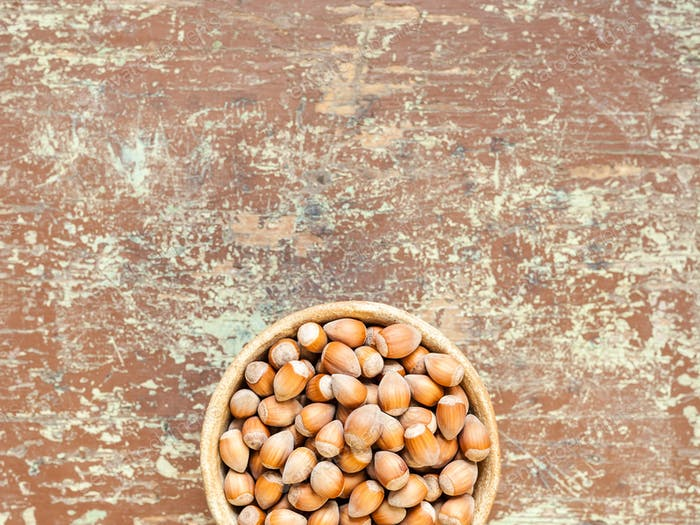 Healthy nuts nutrition background