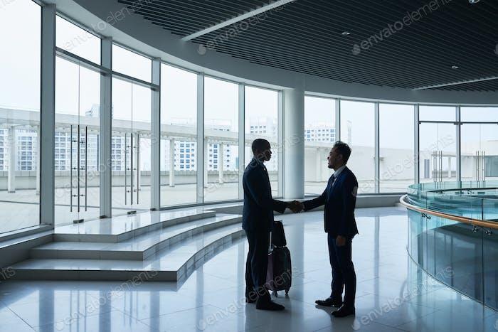 Meeting foreign collegue