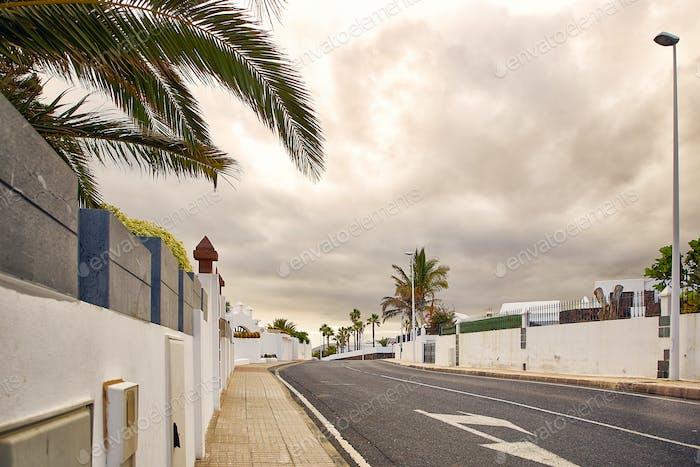 Street view of Puerto del Carmen, Lanzarote Island