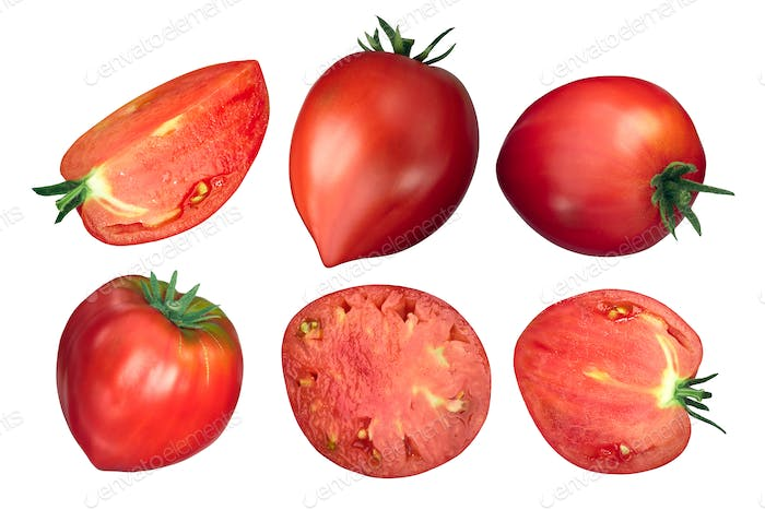 Oxheart ox heart tomatoes, top view