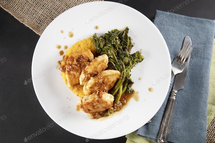 Chicken Dinner Flat Lay